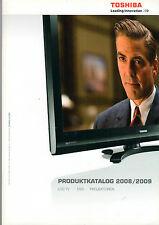 Toshiba catalogo prodotti 2008/2009 LCD TV DVD PROIETTORI Libretto di catalogo b1226