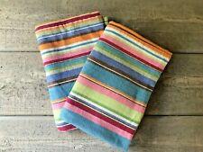 Vintage Linen Source Striped Flannel Standard Pillowcases Set/2