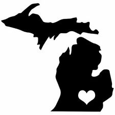 Michigan Love Vinyl Decal Car Window  You Pick The Size & Color