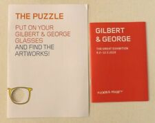 Gilbert and George 2019 SWEDISH MINI ART EXHIBITION CATALOGUE & The Puzzle