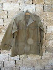 Francés Tropical Chaqueta Ejército Work Coat Vintage Patrimonio Algodón Cazadora