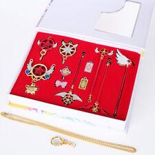Anime Card Captor Sakura Keychain Clow Reader Pendant Necklace Cosplay 10pc/set