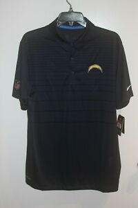 Los Angeles Chargers NFL Navy Blue Polo On Field Nike Dri Fit Men's size L NWT