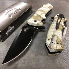 MASTER USA Spring Assisted Camping Fall Camo Pocket knife with fire starter