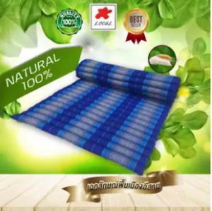 blue  Kapok100%Thai Roll  Mat Fold Mat Meditatation Cushion Size XL