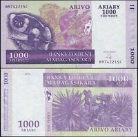 Madagaskar 1000 Ariary. UNZ 2004 (2008) Banknote Kat# P.89b