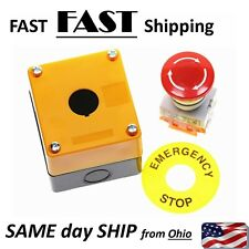 Emergency Stop Button Switch Amp Box With Bezel