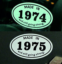 MADE IN 1970s *1975* Classic Car Vintage Bike Helmet STICKER All Years Available