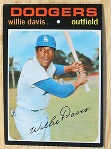 1971 TOPPS BASEBALL SET, #585 Willie Davis, Los Angeles Dodgers, VGEX+
