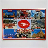 London Kisses 8 Views 2008 Postcard (P433)