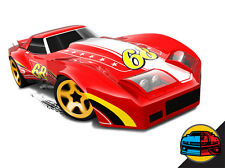 Hot Wheels Cars - '76 Greenwood Corvette Red