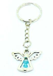 December Birthstone Guardian Angel Keyring lucky charm keepsake birthday gift