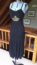 KAREN MILLEN Sleeveless Black Roman Dress Women's Size 8