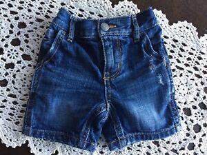 Tommy Hilfiger Baby Boys Blue Denim Jean Shorts Size 3-6  Months Very Cute!