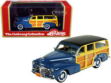 1948 CHEVROLET FLEETMASTER WOODIE WAGON BLUE 1/43 GOLDVARG COLLECTION GC-045 A