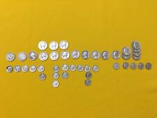 42 old vintage silver coins USA quarter's and dime's from 1907 to 1964
