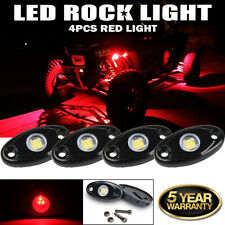 4X RED LED Rock Lights Underbody Glow Lamp Offroad for Polaris Sportsman ATV UTV