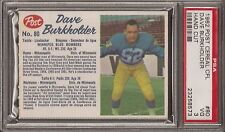 PSA 3 1962 POST CEREAL CFL FOOTBALL DAVE BURKHOLDER HAND CUT
