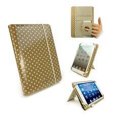 Tuff Luv Embrace Polka iPad Mini & Retina Folio Case Oil Cloth Golden Tan