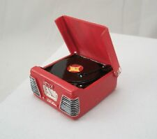 "1950s Record Player / Turntable - Red - miniature music 1"" scale T8531 dollhouse"