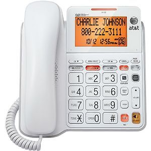 AT&T CL4940 Single Line Corded Phone - White