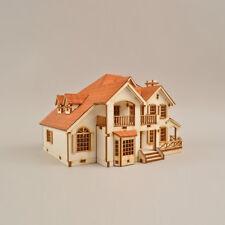 YM637 Ho-Series - Garden House C - Wooden Model Kit