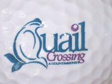(1) Quail Corssing Golf Course Logo Golf Ball (Boonville, Indiana)