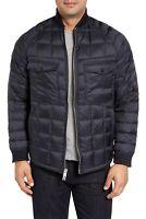NWT Mens Woolrich Woolen Mills Down Rich Shirt Jacket in Navy Blue sz S