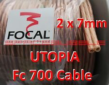 FOCAL UTOPIA Fc700 Cable audiophile OFC 2 x 7 mm² SQ Hifi Hi End Pure Copper