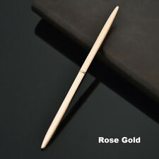 Stainless Steel Rod Rotating Metal Ballpoint Pen Office Business Signature Pen