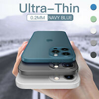 For iPhone 12 11 Pro Max Mini Hard Clear Cover Shockproof Ultra-thin Matte Case