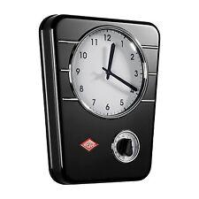 WESCO Reloj de cocina Reloj De Pared Reloj Diseño Retro Acero Negro con
