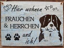 "A4 Schild Holzschild ""Berner Sennen"" - handgemacht - Tapete Holzoptik verwittert"