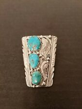 """Feather Bolo """"J. Kelly"""" Vintage Native American Sterling turquoise"""
