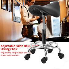 Tabouret de comptoir Bar Chaise Bureau Ergonomique Roulette Cuir PU Salon Noir