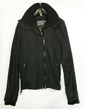 Men's Super Dry Hooded Windcheater Jacket - Black - X-Large (JK65)