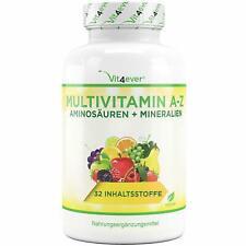 Vit4ever Multivitamin A-Z Aminosäuren und Mineralien Nahrungsergänzungsmittel Tabletten, 365 Stück