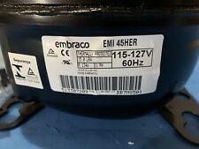 EMBRACO EM3Z70HLT 1//5 HP 115//1//60 R-134A LBP REFRIGERATOR COMPRESSOR
