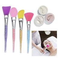 Silicone Face Mask Brush Womens Facial Mask Mud Mixing Applicator Makeup Tools