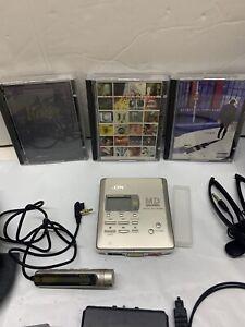 SONY MD WALKMAN MZ-R55 WITH 3 MINI DISCS PLUS EXTRAS...
