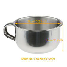 Stainless Steel Men Shaving Mug Bowl Barber Beard Soap Mug Cup for Brush