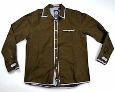 English Laundry Dress Shirt Long Sleeve Button Up Plaids Checks Men Large