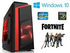 Fast Gaming PC Computer Bundle Intel Quad Core i7 16GB 2TB Windows 10 2GB GT710