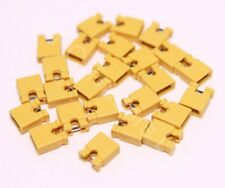 25x 2.54mm Yellow Jumper Shunts Bridges Hard Drive DVD Motherboards Electronics