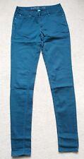 Ladies dark teal green ultra soft super skinny jeans size 6