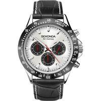 Sekonda Men's Classic Chronograph Dual Time Strap Watch 1647 RRP £89.99