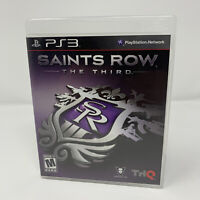 Saints Row: The Third Sony PlayStation 3 PS3 Game Complete With Manual Tested