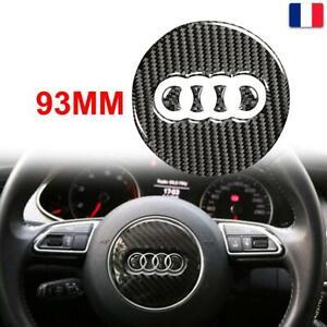 Autocollant de Centre de Volant 93 MM Ring Logo Emblème pour Audi A3 A4 Q3 Q5