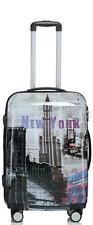 Design Koffer Reisekoffer Hartschalenkoffer Trolley 66cm 70L - BB New York