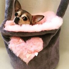PET CARRIER DOG CHIHUAHUA YORKIE PUPPY LUXURY FAUX FUR SNUGGLE SACK BAG ��������